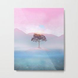 Lone tree vibes Metal Print