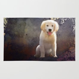 Golden Retriever Puppy Rug