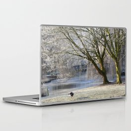 Morning yoga Laptop & iPad Skin