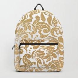 Gold foil swirls damask #13 Backpack