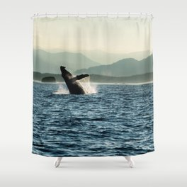 Humpback Whale Photography Print Shower Curtain