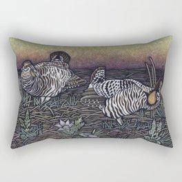 Prairie Chickens Rectangular Pillow
