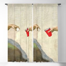 Sistine of Beer Pong Blackout Curtain