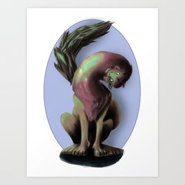The Manticore (No Background) Art Print