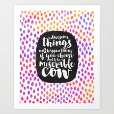 Awesome things Art Print