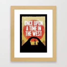 Once Upon a Time in the West - Hanging Framed Art Print