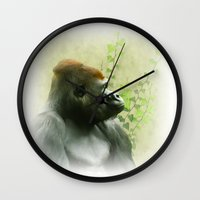 ape Wall Clocks featuring Ape by Shalisa Photography