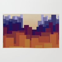 cityscape Area & Throw Rugs featuring Cityscape by MarMarMette