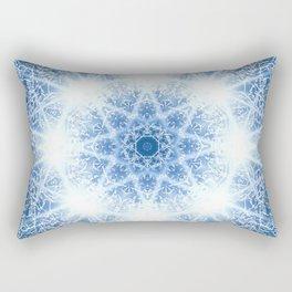 Spring Thaw Mandala Abstract Design Rectangular Pillow