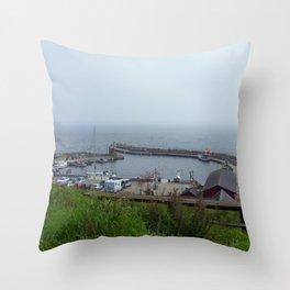 Kaseberga Harbour  Throw Pillow