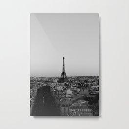 Black And White Paris Metal Print