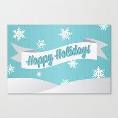 Holiday Snow Canvas Print
