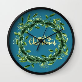 Christmas crown Wall Clock