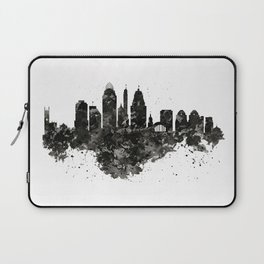 Cincinnati Skyline Black and White Laptop Sleeve