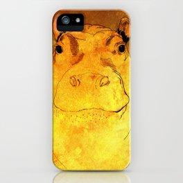 Golden Hippo iPhone Case