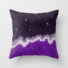 Ace Pride Flag Galaxy Throw Pillow