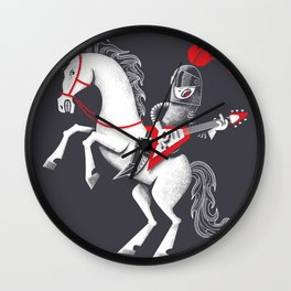 Music is mightier than the sword Wall Clock