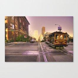 Street Car Crossing  Canvas Print