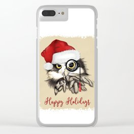 Christmas owl Clear iPhone Case