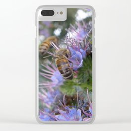 Bees on Buddleia Clear iPhone Case