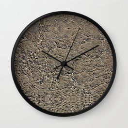 clear tranquil pond ripple texture Wall Clock