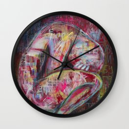 How the Sadness Swells/I Recall A Wonderful Moment (Pushkin) Wall Clock