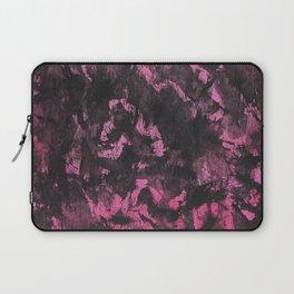 Black Ink on Pink Background Laptop Sleeve