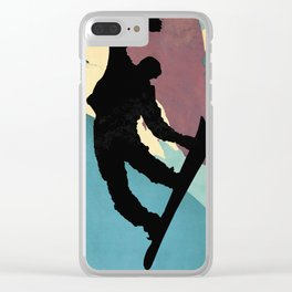 Snowboarding Dude Method Grab Clear iPhone Case