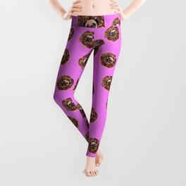 Pug Chocolate Donut Leggings