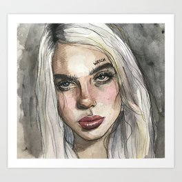 BILLIE EILISH Art Print
