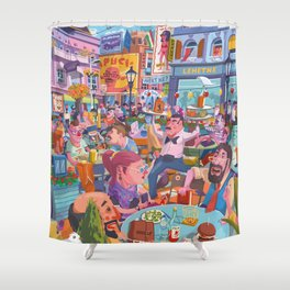 Terace BP soft colors Shower Curtain