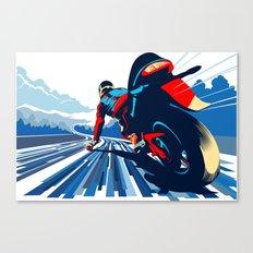 Motor racer speed demon Canvas Print