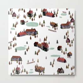 cold village Metal Print