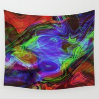 good vibes Wall Tapestries featuring Good Vibes by Dawn Beck