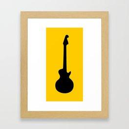 Simple Guitar Framed Art Print