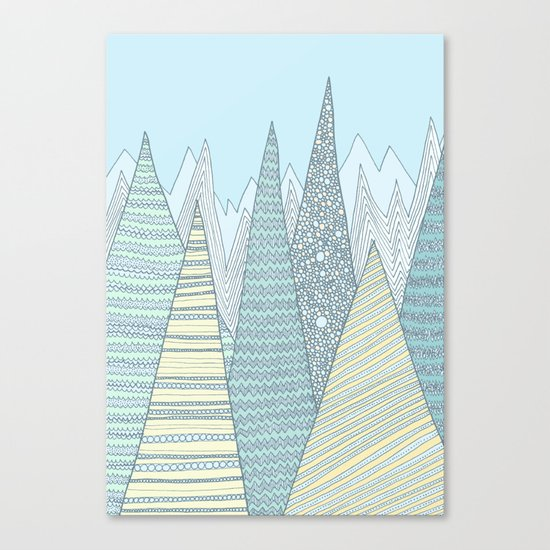 Summer Mountains Canvas Print