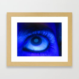 Blacklight Eye Framed Art Print