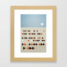 Gulf Flock Framed Art Print