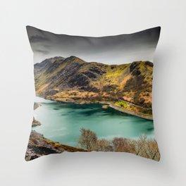 Llyn Peris Snowdonia Throw Pillow