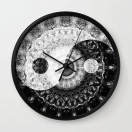 Ideal Balance Black And White Yin and Yang by Sharon Cummings Wall Clock