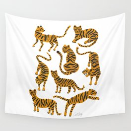 Tiger Collection – Orange Palette Wall Tapestry