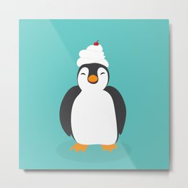 Penguin sweetness Metal Print