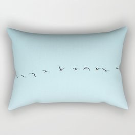 Flying South No Restrictions   Birds and Sky Photography Rectangular Pillow