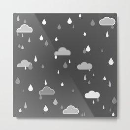 Grey Rains Metal Print