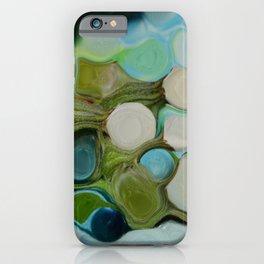 Manipulated buds in greenish iPhone Case