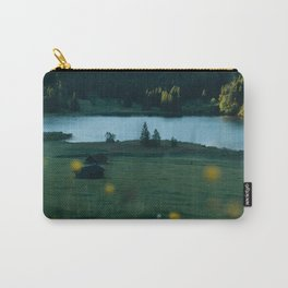 Sunrise at a mountain lake with forest - Landscape Photography Carry-All Pouch