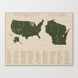 US National Parks - Wisconsin Canvas Print