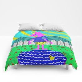 Summertime Unicorn Comforters