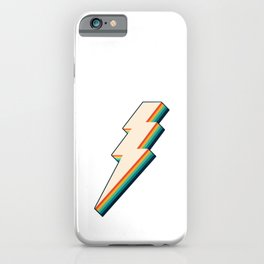 Vintage Lightning Bolt iPhone Case