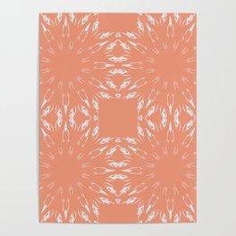 Peach Color Burst Poster